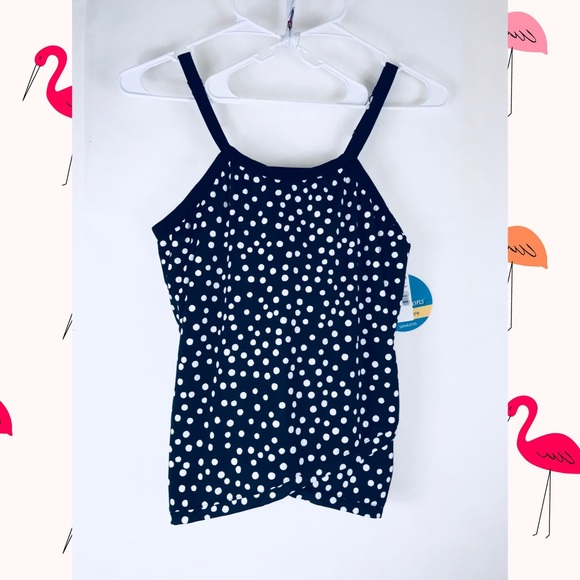 2cabe78b9a32b Swim solutions Swim | High Neck Tankini 24w Black White | Poshmark